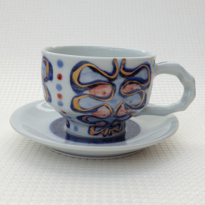 coffee cup 11 - 6b Artist: Kazuhiro Nishioka Cup - Dia: 9.5cm, H: 6.7cm Saucer - Dia: 15cm Price: £25