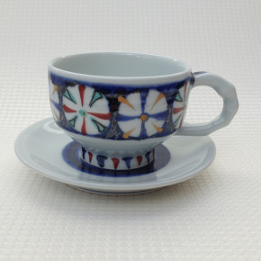 coffee cup 11 - 6c Artist: Kazuhiro Nishioka Cup - Dia: 9.5cm, H: 6.7cm Saucer - Dia: 15cm Price: £25