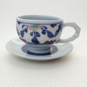 coffee cup 11 - 6e Artist: Kazuhiro Nishioka Cup - Dia: 9.5cm, H: 6.7cm Saucer - Dia: 15cm Price: £25