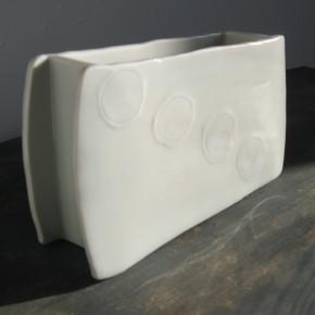rectangular vase 13 - 4 Artist: Masaaki Akutagawa Width: 21cm, Depth: 5.6cm Height: 12cm Price: £60