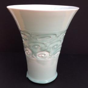 celadon vase 15 - 2 Artist: Youichi Nakamoto Price: £150