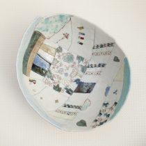patchwork bowl 22 - 2 Artist: Chiyoko Nishiyama Dia: 26cm, H: 7cm Price: £125