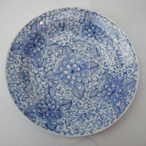peony large dish 27 - 3 Artist: Kimiko Tanaka Dia: 29cm, H: 6cm Price: £65