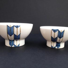 a pair of small bowls 31 - 1 Artist: Ayumu Matsuda Big Dia: 12cm, H: 7cm Small Dia: 11cm, H: 6cm Price: £16