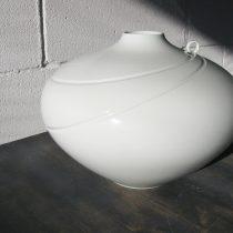 vase with diagonal lines 4 - 4 Artist: Yasuhiko Shirakata Dia: 40cm, H: 30cm Price: £1500
